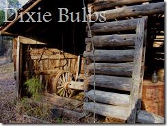 Log Barn with Wagon